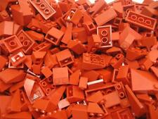 50 LEGO PIECES RED Roof Incline Slope Bricks pcs bulk lot wedge houses city town