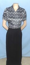 Awesome & Chic East 5th Gray Print Blouse Size 4 Career or Casual Cruise Worthy