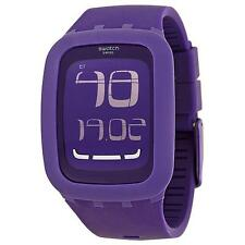 Swatch SURV100 Touch Purple Digital Chronograph Alarm Swiss Made Unisex Watch