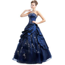 Quinceanera Bridesmaids Dress Prom Party Ball Gown Evening Gowns Stock Sz 6 -16