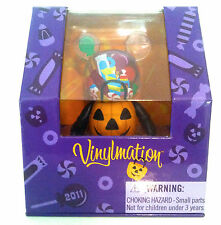 "DISNEY VINYLMATION 3"" MICKEY'S HALLOWEEN NOT SO SCARY CANDY PUMPKIN BOWL BUCKET"