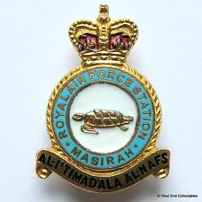 1950s RAF Masirah Station MILLER Enamel Brooch Badge - RAFO Oman Royal Air Force