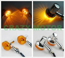 New Chrome Turn Signal Indicator Light Lamp For Honda Suzuki Kawasaki Yamaha ATV