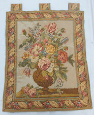 Vintage French Beautiful Flowers Tapestry Wall Hanging 64x78cm T305