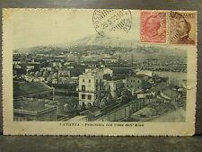 cpa italie italia catania catane panorama con vista dell'etna