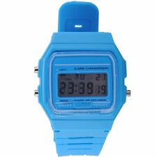 Hot Mens Womens LCD Digital Alarm Day Date Stopwatch Sports Silicone Wrist Watch