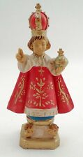 """Italian Italy Cast Resin Holy Infant Jesus Child of Prague 6"""" Tall Statue Icon"""