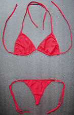 DARK RED G-STRING BIKINI Sexy Swimming Costume Beach Holiday Wear Ladies Thong