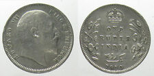 *TRIU*BRITISH INDIA Edward VII RUPIA 1910 ARGENTO