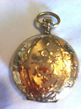 14k Yellow Gold Elgin Pocket Watch w Cover 7 Jewels Mechanical
