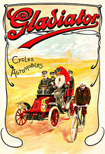 Gladiator  Cycles-Automobiles  Cycle Bike bicycle Deco  Poster Print