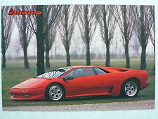 Prospekt Lamborghini Diablo, 1990, 2 Seiten, englisch