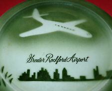 Airlines Airplane Great Rockford Airport Restaurant Ware China Plate Chicago