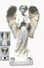 Beautiful Praying Angel with 2 Yellow LED Solar Light - Powered by the sun, New,