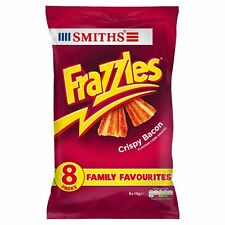 Walkers Frazzles Crispy Bacon Snacks 8 x 18g - Sold Worldwide From UK