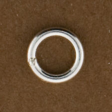 10pc, Sterling Silver 6mm Closed Jump Rings. 18gauge. 1mm Thick Soldered Rings