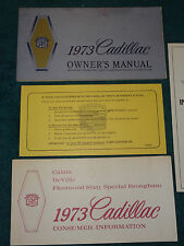 1973 CADILLAC OWNER'S MANUAL SET / NICE ORIGINAL MULTI-PIECE SET!