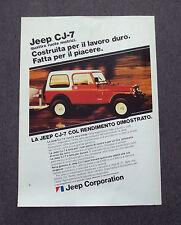 G201-Advertising Pubblicità - 1982 - JEEP CJ-7 QUATTRO RUOTE MOTRICI