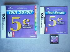 Tout Savoir 5e Jeu Vidéo Nintendo DS