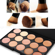 UK 15 Colors Concealer Kit With Brush Face Makeup Contouring Cream Palette #2