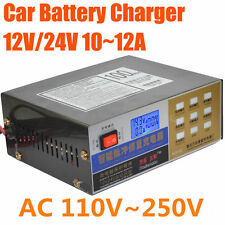12V/24V Universal Lead-acid / Lithium Battery Charger For Car Vehicle Motorcycle