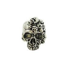 Mind Skull Pewter Paracord Pull tactical MOLLE bead NEW