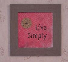Live Simply 13 x 13 Framed Art in light weight Barn Wood look Frame - 6815