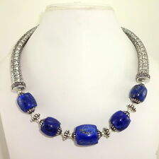 NATURAL FINE LAPIS LAZULI BEADED GEMSTONE NECKLACE 120 GRAMS