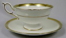 COALPORT CHINA Elite Gold Footed Cup & Saucer Set