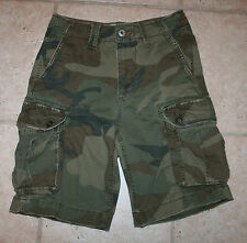 American Eagle Outfitters Mens Boys Size 26 Camoflage Cargo Shorts