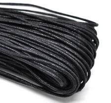 80M Wholesale Black Waxed Cotton Necklace Cord 2mm
