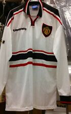 New Original 1999 Umbro Manchester united Player Issue long sleeve Jersey no spo