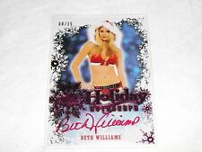 2014 Benchwarmer BETH WILLIAMS Holiday #21 Pink Foil Auto/25 PLAYBOY Playmate