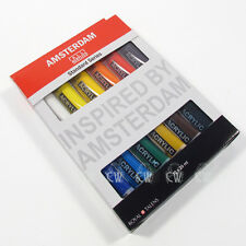 Royal Talens Amsterdam 12 Tube Acrylic Set. Artists Paint Set