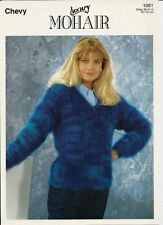 """Mohair Knitting Pattern 1061 Ladies V Neck Sweater  30"""" - 44"""" -  Chevy"""
