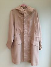 PARKA COAT SIZE 14 BY PAUL & JOE SISTER LIGHTWEIGHT DRAWSTRING WAIST BEIGE BNWT