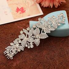 Sequin Crystal Beaded Bridal Hair Comb Sliver Rhinestone Wedding Headpieces