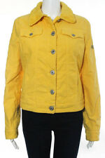 Moschino Jeans Yellow Button Down Cotton Jacket Size 8