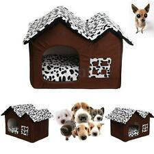 DELUXE Soft Washable Dog Cat Pet Warm Bed House Cave Cushion with Fleece Lining