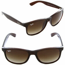 New Ray-Ban Andy RB4202 6073/13 Sunglasses Matte Brown / Brown Gradient Lens