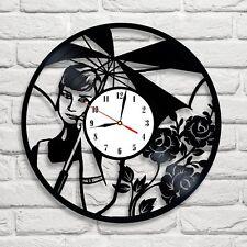 Audrey Hepburn design vinyl record clock home decor art move pub shop office