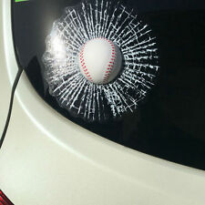 Car Creative 3D Baseball Hit Window Car Sticker Windshield Lifelike Decor Decal