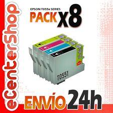 8 Cartuchos T0551 T0552 T0553 T0554 NON-OEM Epson Stylus Photo RX420 24H