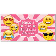 Emoji Banner Birthday Personalized Party Backdrop
