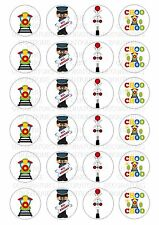 24 Train Driver Wafer / Rice Paper Cupcake Topper Edible Fairy Cake Bun Toppers