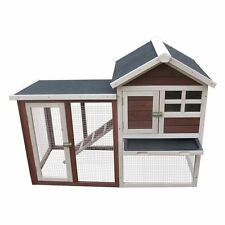 Rabbit Hutch Chicken Coop Hen Cottage Poultry House Bird Cage Pets Nesting Pen