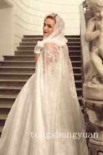 Vintage Lace Bridal Cape Hooded Wedding Cloak White Ivory Wraps Sweep Train 2016