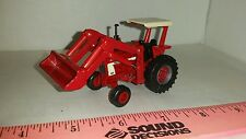 1/64 ERTL custom international 1066 white canopy tractor w/ ih loader farm toy