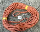 70 FT NEW 8MM ROPE. ReddIsh brown ANCHOR BOAT MOORING + SNAP HOOK & d shackle
