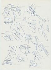 MALMO FF 1994-1995 SEASON ORIGINAL HAND SIGNED A4 SHEET X 18 SIGNATURES